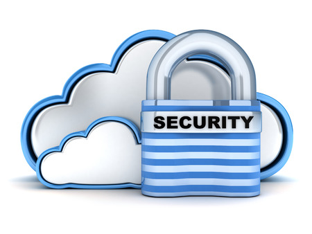 Blue Cloud security (done in 3d) photo