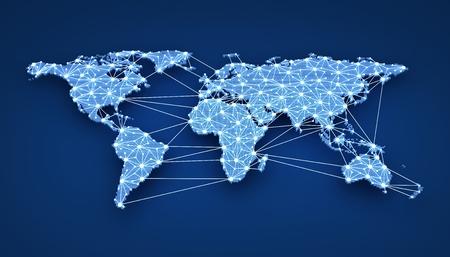 Web en todo el mundo sobre fondo azul