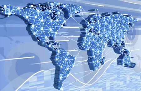 world wide web: World-wide web on blue background