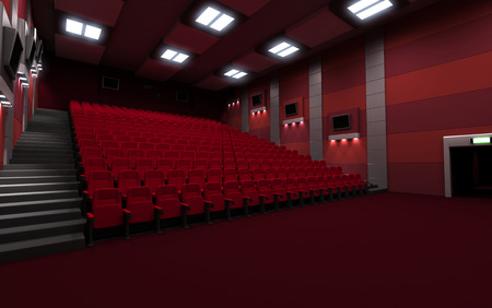 cinematograph: Empty Back view cinema seats