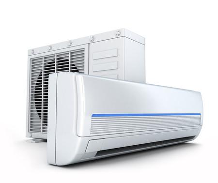 Acondicionador de aire en el fondo blanco (hecho en 3d) Foto de archivo - 34105116