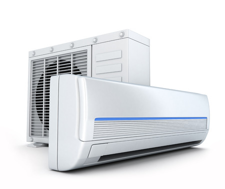 air-conditioner on white background (done in 3d)