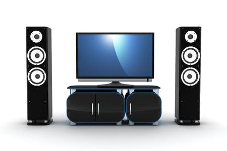 sub woofer: Home-cinema modern (done in 3d)