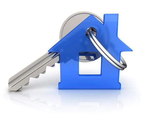 llaves: Resumen casa y clave (hecho en 3d) Foto de archivo