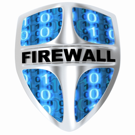 def: Shield computer, abstract firewall (done in 3d)
