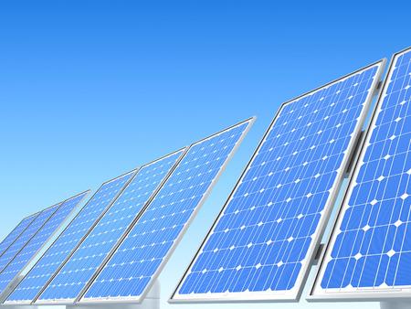 solar array: Modern Solar panel on white background (done in 3d)
