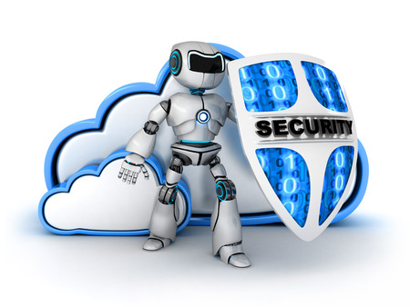 security icon: Blue Cloud security (done in 3d)