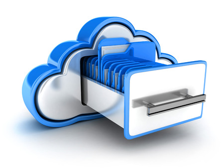 Abstract cloud storage (done in 3d)