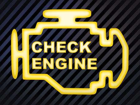 "Meld je auto (afbeelding computer generatie) ""Check Engine"""