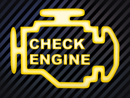 computer generation: Sign car Check engine (computer generation image)