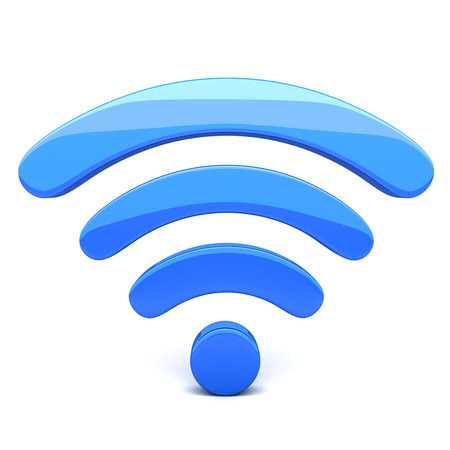 通信: Abstract Wifi on white background (done in 3d) 写真素材