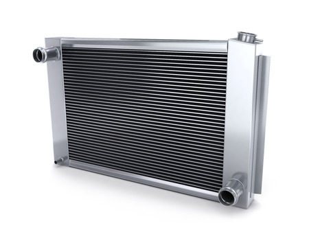 radiador: Radiador del coche (hecho en 3d, sobre fondo blanco)