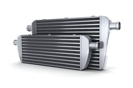 Intercooler de voiture (fait en 3d, sur fond blanc) Banque d'images
