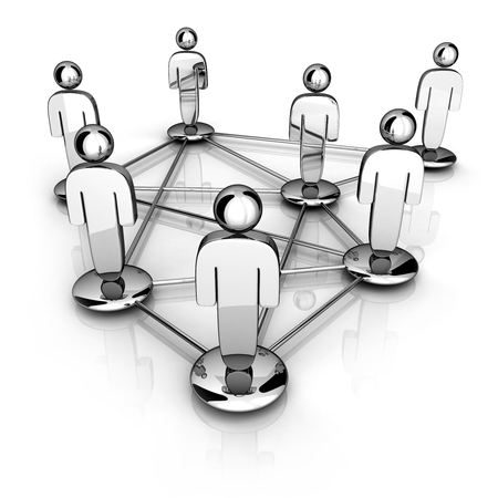 network people: Social network around (done in 3d)