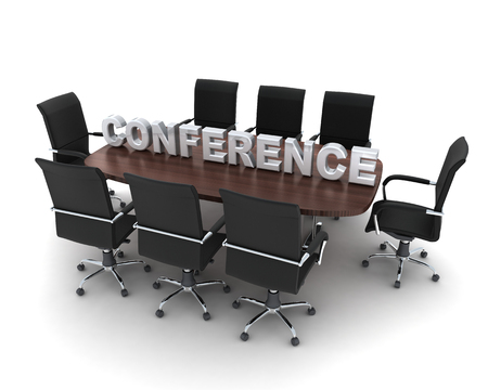 congregation: Conference room symbol on white background (done in 3d) Stock Photo