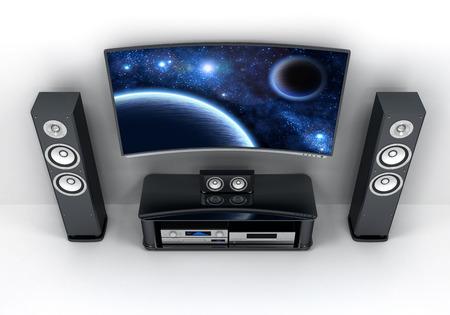 flatscreen: Home-cinema modern (done in 3d)