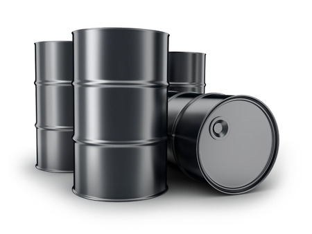 obtain: Barrels on a white background (done in 3d)