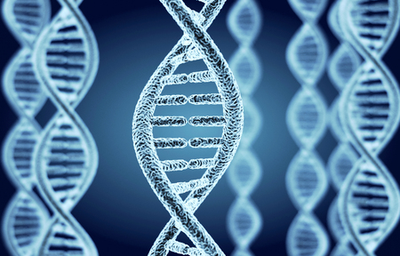 Abstract DNA spiral model (done in 3d)