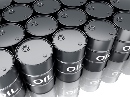 opec: Barrels on a white background (done in 3d)