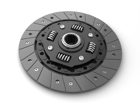 Clutch disc car on white background (done in 3d, cgi) Stock Photo