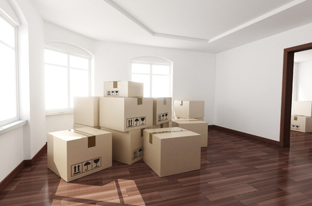 empty room: New room empty and box (done in 3d)