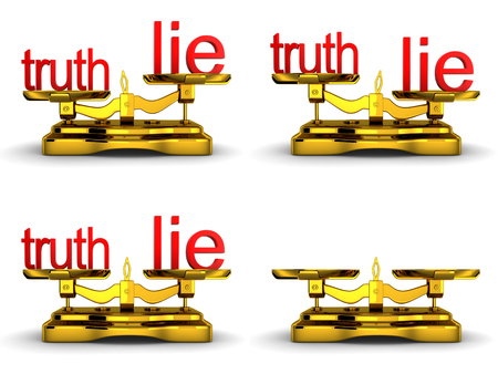 forcemeter: Scales balance and note truth and lie (done in 3d)