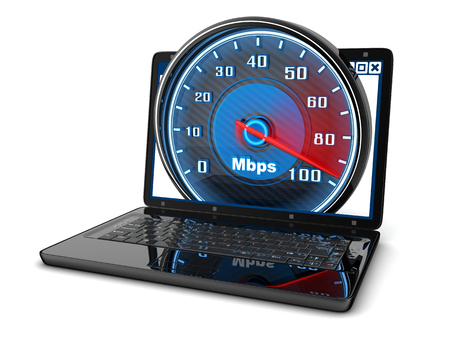 speed: Laptop and internet speed (done in 3d)