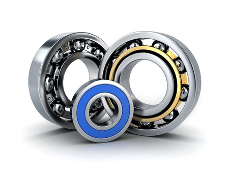 3d ball: Three ball bearing (done in 3d, cgi) Stock Photo