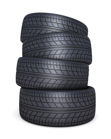car tire: Tire car on white background (done 3d)