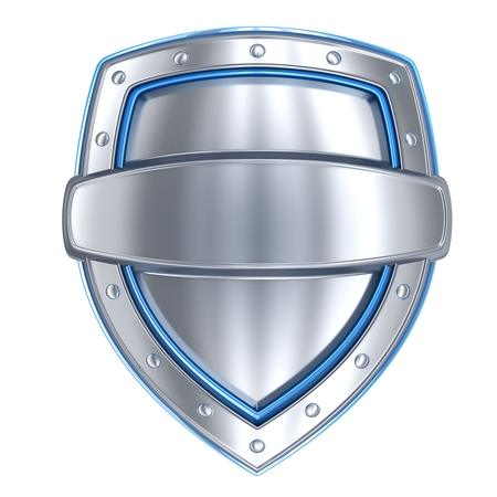 iron and steel: Shield stell empty (done in 3d, isolated)