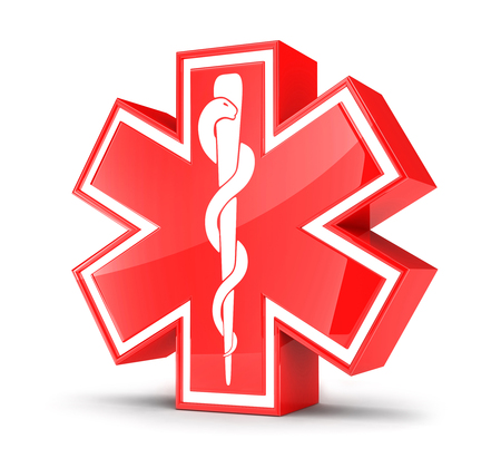 star of life: Symbol Star of life (done in 3d)