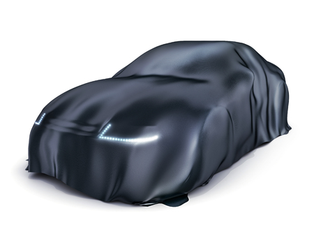 cape: Car covered cloth on white background (done in 3d, )