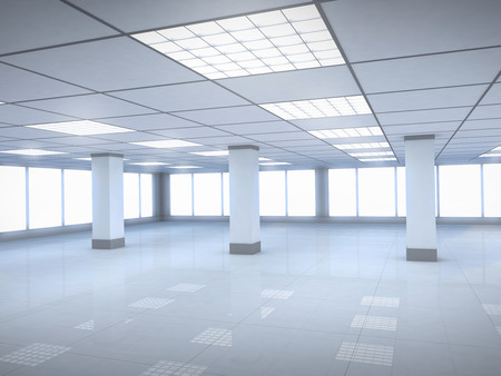 tenancy: New office room empty (done in 3d)