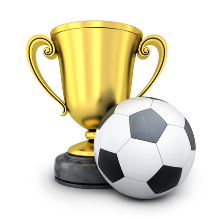gold cup: Gold Cup awarded in football (done in 3d rendering)