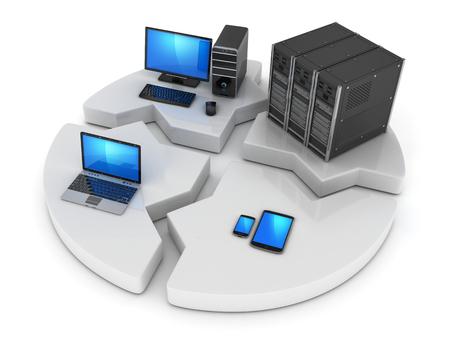 Resumen concepto de internet (hecho en 3D)