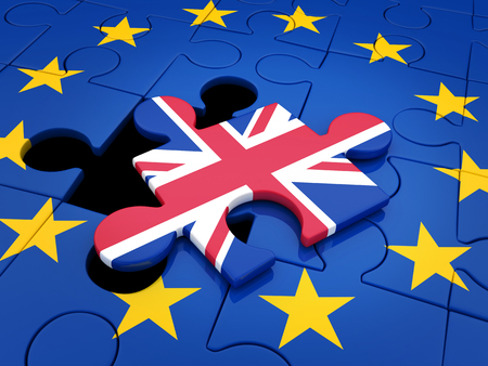 releasing: Abstract disintegration Euro union and Britain (done in 3d rendering)
