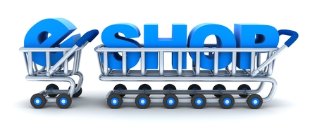 eshop: Abstract cart e-shop (done in 3d rendering)
