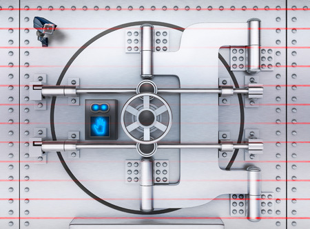 depository: Bank Vault security (done in 3d rendering) Stock Photo