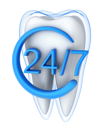 carious: Abstract protect tooth and blue shell  (done in 3d rendering) Stock Photo