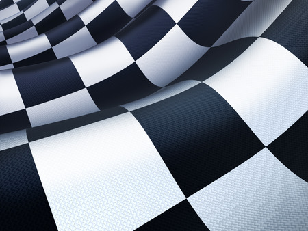 checked flag: Checked flag wave (done in 3d rendering) Stock Photo