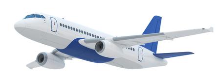 Latanie Samolot izolowane (Sporządzono w 3d rendering) Zdjęcie Seryjne