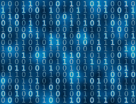 Blue binary code background Banque d'images