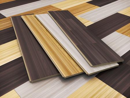 laminated: Wooden laminated sheet advertising CGI. 3d illustration