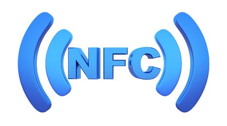 nfc: Symbol near field communication (NFC). 3d illustration