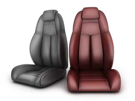 Two drive seat car. 3d illustration Stock Photo