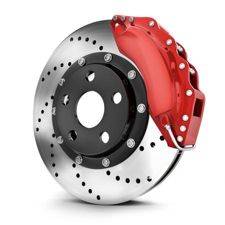 Car brake disk on white background. 3d illustration