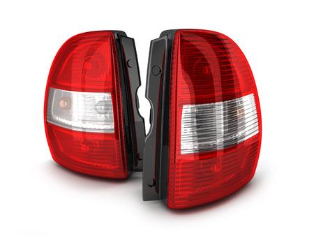 taillight: Taillight car on white background. 3d illustration Stock Photo