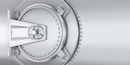 safe lock: Big safe door steel in bank. 3d illustration   Stock Photo