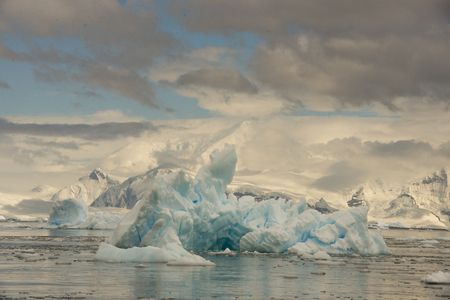 ocean water: Beautiful  Iceberg, travel on the ship to  Antarctica