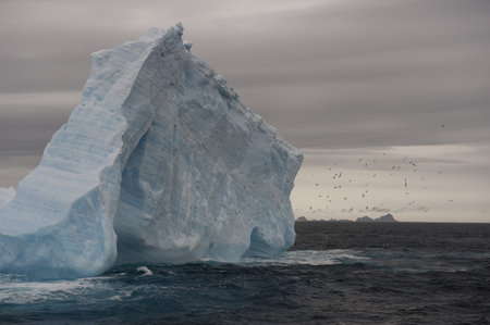 global environment: Beatyful Icebergs in Antarctica travel on the ship Stock Photo
